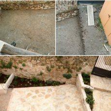 Vista desde la casa. Antes/Después